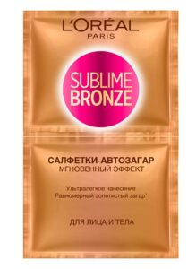Салфетки-автозагар Loreal Sublime Bronze